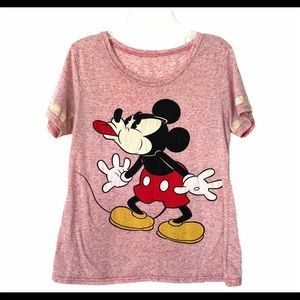 Briefly Stated Small Disney Mickey Mouse Pink Tee